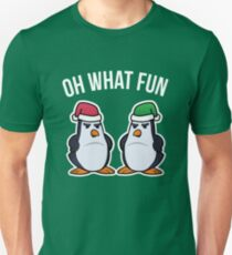 Oh What Fun Christmas Penguin  Unisex T-Shirt