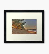 SUNSET AT MY BEACH Framed Print