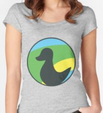 Siligong Valley logo duck only Women's Fitted Scoop T-Shirt