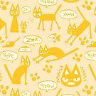Derp Cat Speaks - Yellow by ChelseaPray