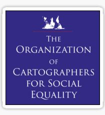 Cartographers for Social Equality Sticker