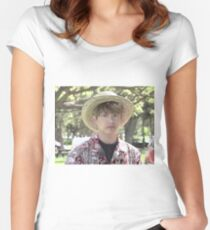 Jungkook Hawaii Grubby Boy Shirt and Others Women's Fitted Scoop T-Shirt