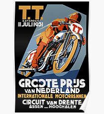 T.T. Motorcycle : Vintage 1931 Advertising Grand Prix Print Poster