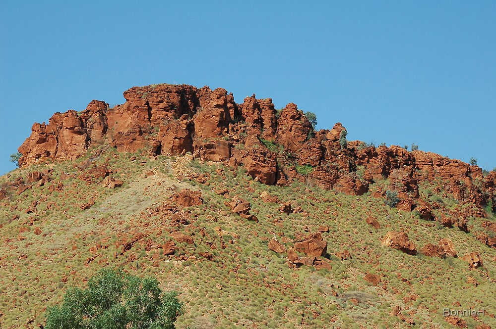 Outback hill in Western Australia by BonnieH