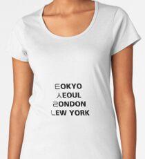Tokyo Seoul London Newyork Women's Premium T-Shirt