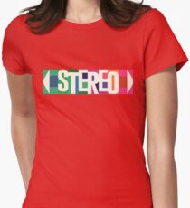 Stereo Retro Women's Fitted T-Shirt