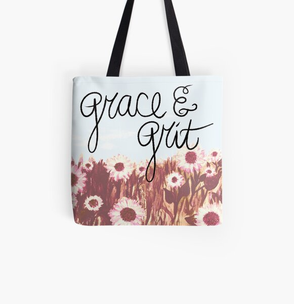 Grace and Grit Sunflower Field All Over Print Tote Bag