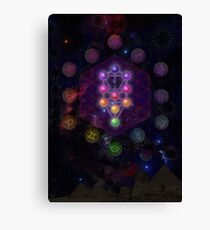 Kabbalah Tree of Life with Astrological Backdrop  Canvas Print