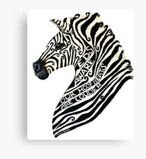 Ehlers Danlos Syndrome Zebra Canvas Print