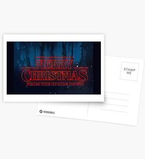MERRY CHRISTMAS FROM THE UPSIDE DOWN - STRANGER THINGS Postcards