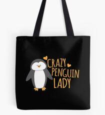 Bolsa de tela Crazy Penguin Lady