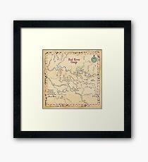 Red River Gorge Map, Daniel Boone National Forest Framed Print