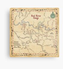 Red River Gorge Map, Daniel Boone National Forest Canvas Print