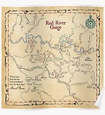 Red River Gorge Map, Daniel Boone National Forest Poster