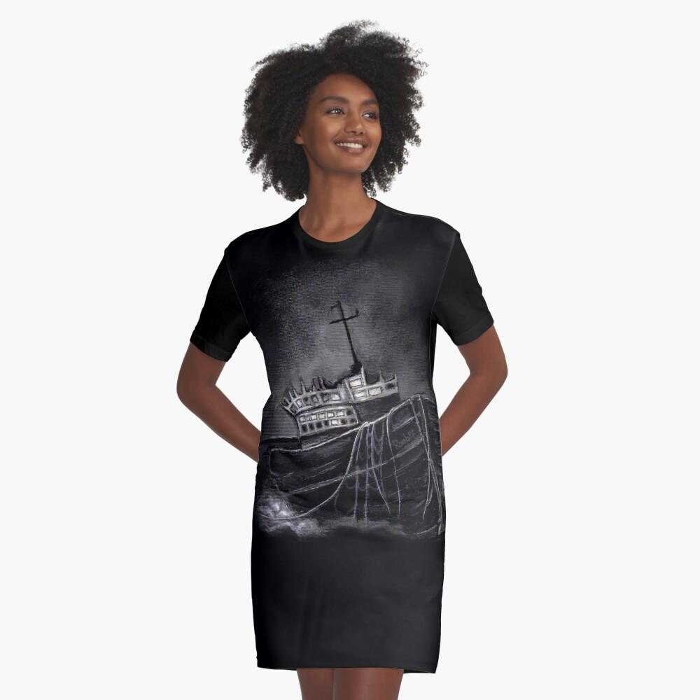 Dark Voyage Graphic T-Shirt Dress