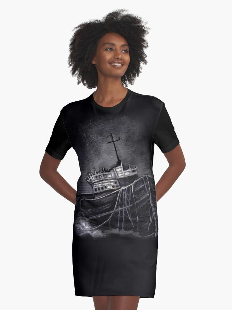 Dark Voyage Graphic T-Shirt Dress Front