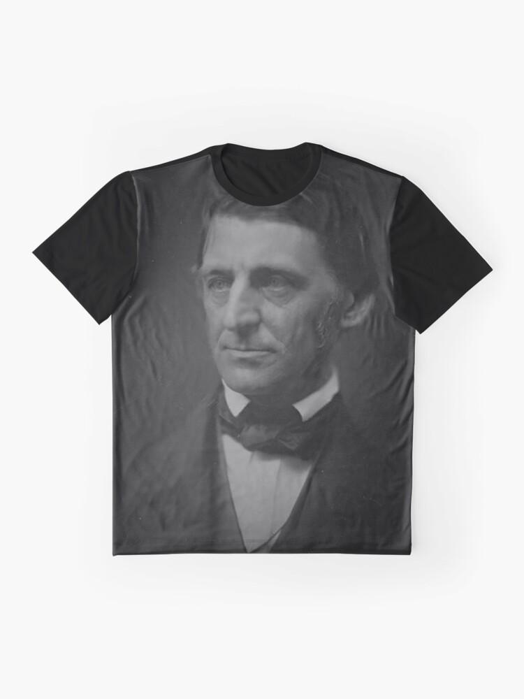 Alternative Ansicht von Ralph Waldo Emerson - schwarz und weiß Grafik T-Shirt