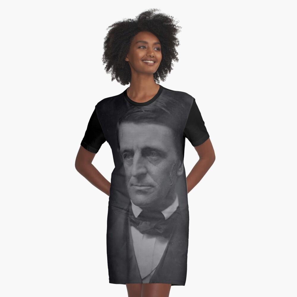 Ralph Waldo Emerson - schwarz und weiß T-Shirt Kleid