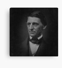 Ralph Waldo Emerson - black and white Canvas Print
