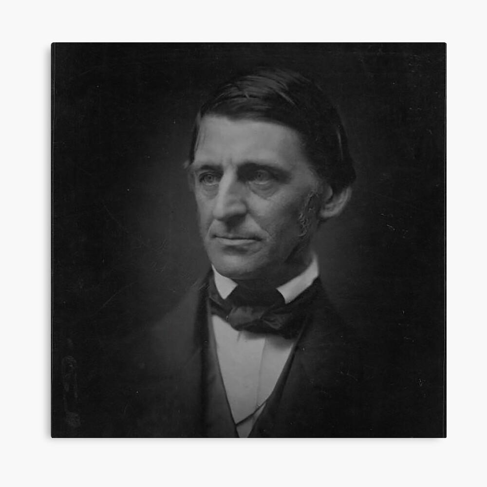 Ralph Waldo Emerson - schwarz und weiß Leinwanddruck