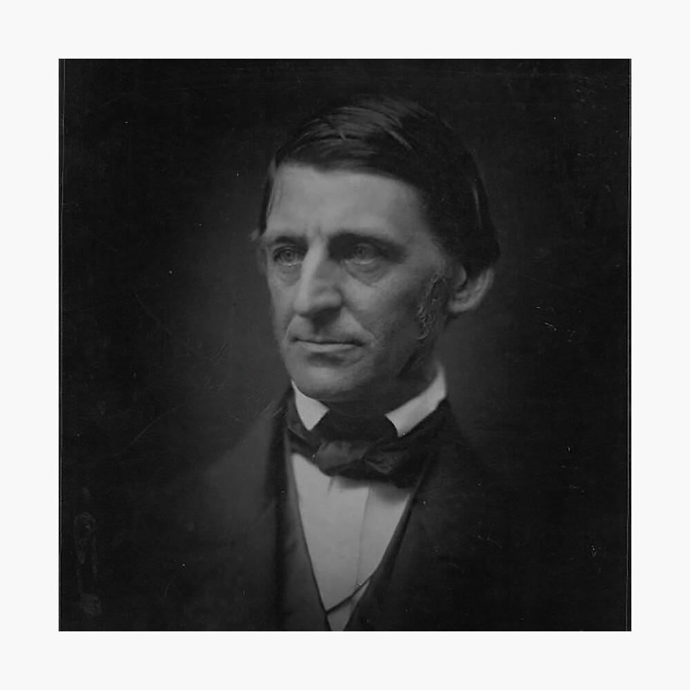 Ralph Waldo Emerson - schwarz und weiß Fotodruck
