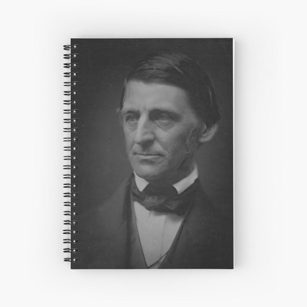 Ralph Waldo Emerson - schwarz und weiß Spiralblock