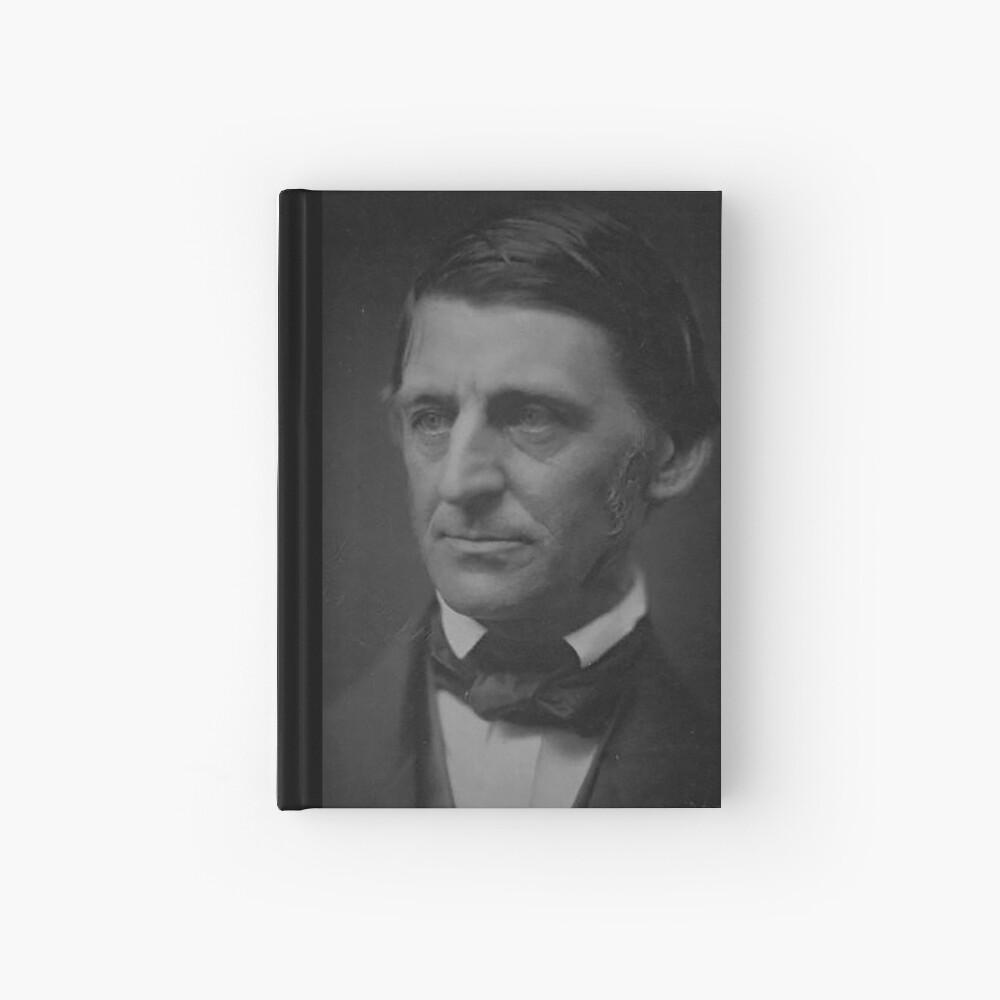 Ralph Waldo Emerson - schwarz und weiß Notizbuch