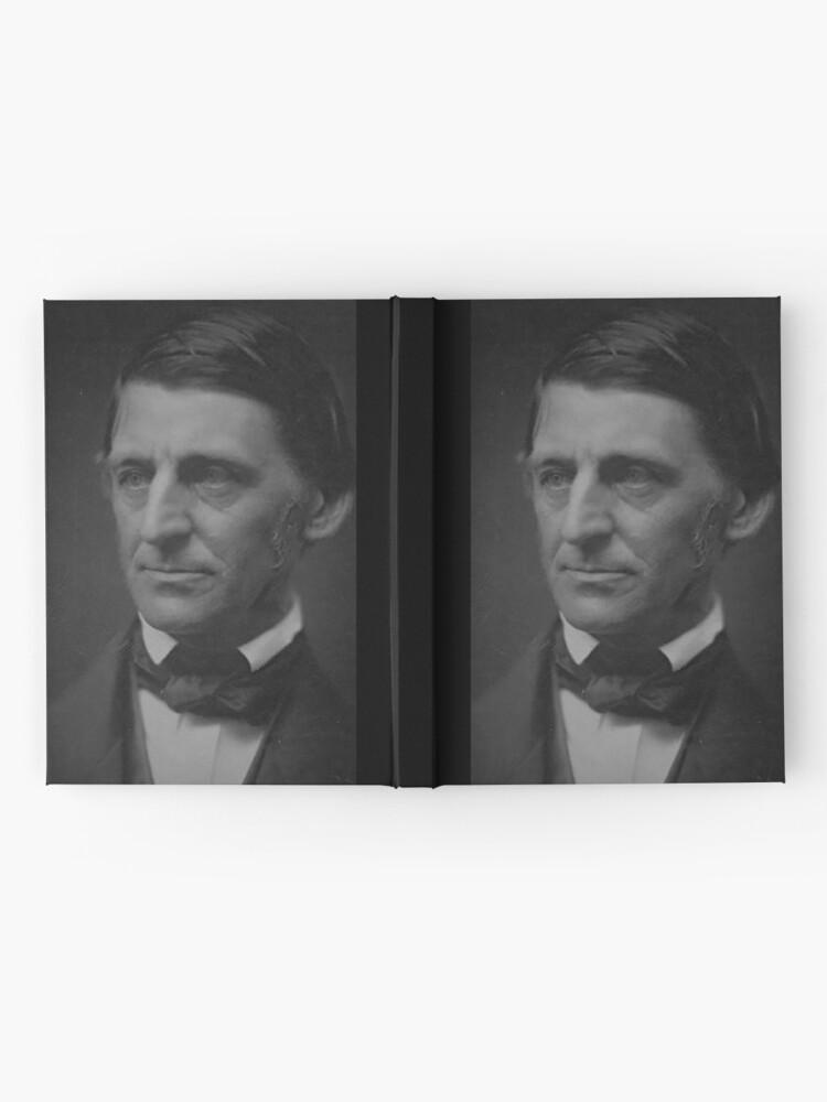 Alternative Ansicht von Ralph Waldo Emerson - schwarz und weiß Notizbuch