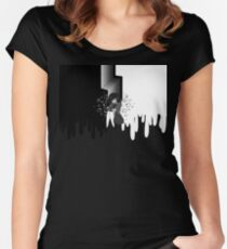 Ink (Mostly Black) Women's Fitted Scoop T-Shirt