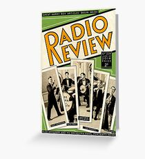 Radio Review Greeting Card