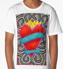 Project 321 - Blooming Heart on Swirls Long T-Shirt