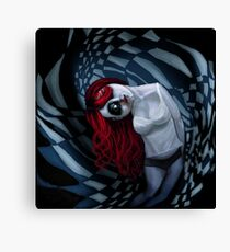 the dark side of my mind hurts Canvas Print