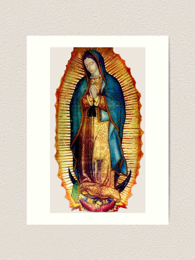 Alternate view of Our Lady of Guadalupe Tilma Replica Art Print