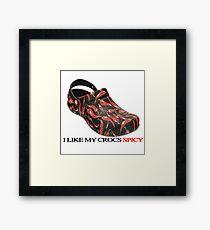 Spicy Crocs Framed Print