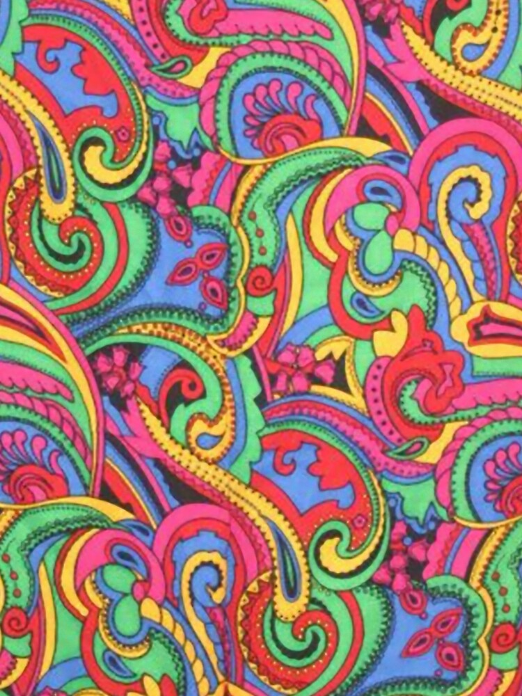 Colorful Psychedelic Paisley Pattern by designworks