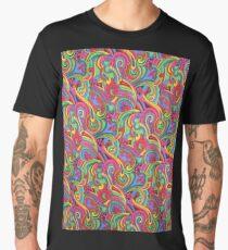 Colorful Psychedelic Paisley Pattern Men's Premium T-Shirt