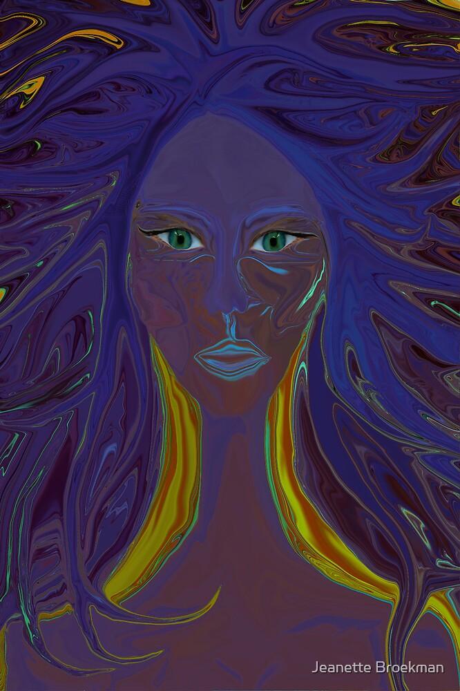Blue Woman by Jeanette Broekman