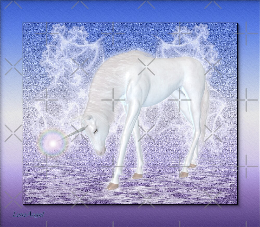 Tenderness .. an enchanting unicorn by LoneAngel