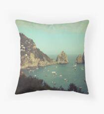 Amalphi coast, Capri, Italy 4 Throw Pillow