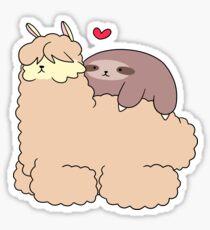 Sloth Loves Alpaca Sticker