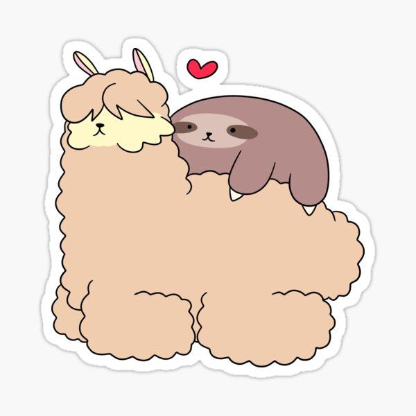 La pereza ama la alpaca Pegatina