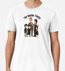 The Belcher Family Addams Family Inspired Parody Men's Premium T-Shirt