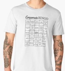 Corporate Jargon Buzzword Bingo Card Men's Premium T-Shirt