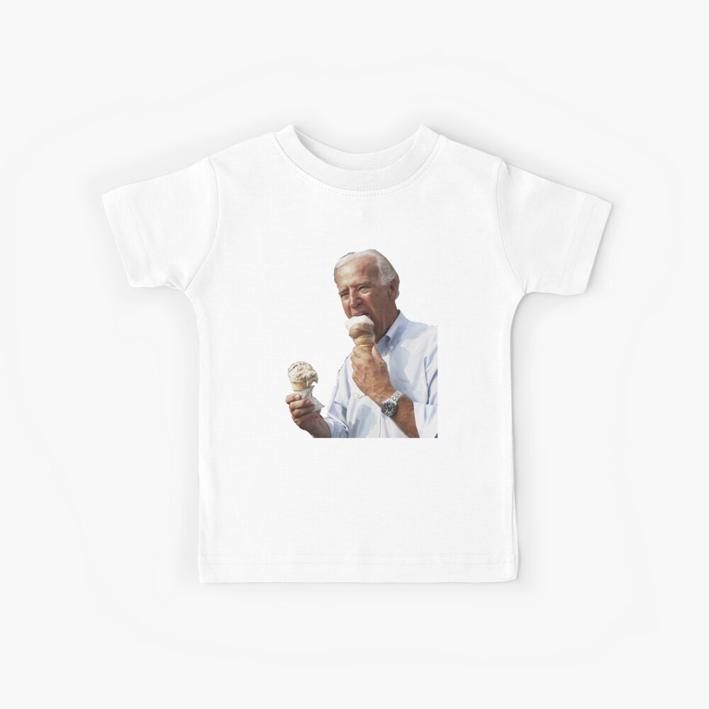 JOE BIDEN EATING ICE CREAM Kids T-Shirt
