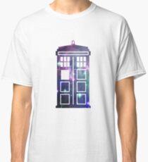 Cosmic Doctor Who Inspired Galaxy Tardis Classic T-Shirt