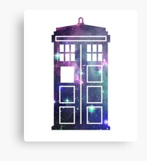 Cosmic Doctor Who Inspired Galaxy Tardis Canvas Print