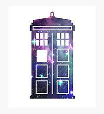 Cosmic Doctor Who Inspired Galaxy Tardis Photographic Print