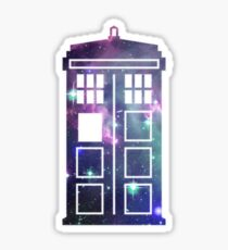 Cosmic Doctor Who Inspired Galaxy Tardis Sticker
