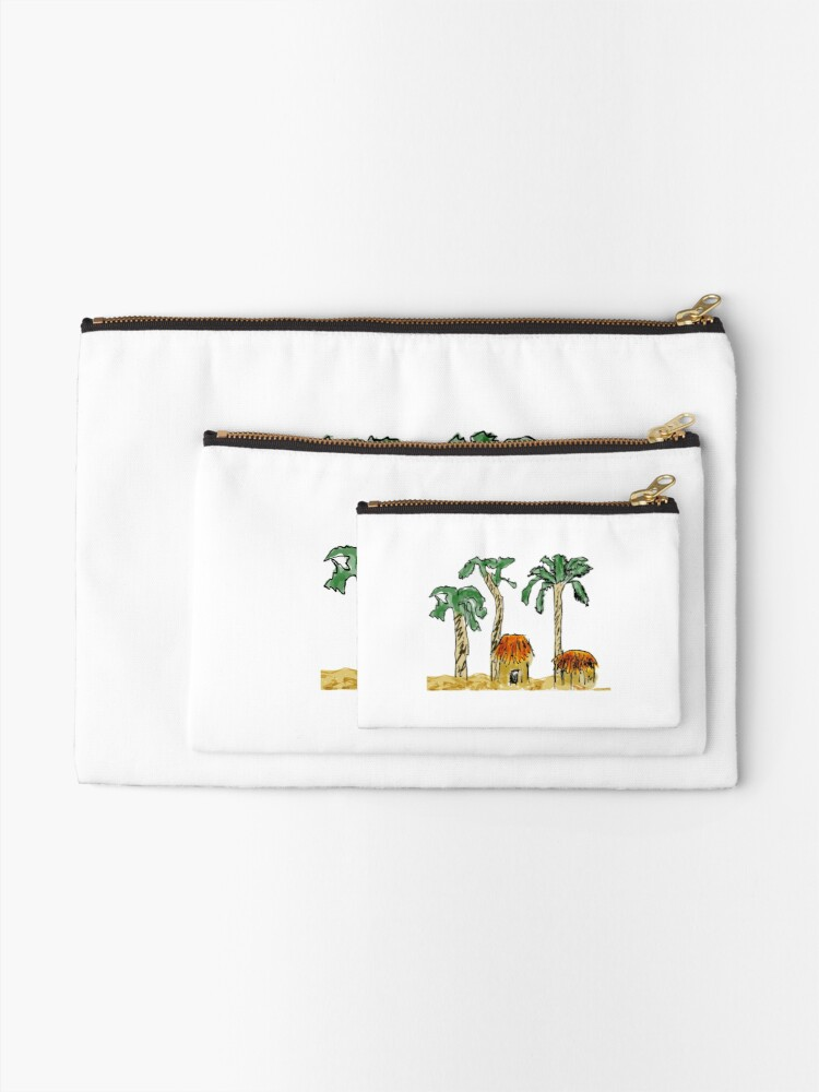 Alternate view of Palm Trees and Paradise Zipper Pouch