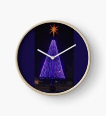 Big Purple Xmas Clock